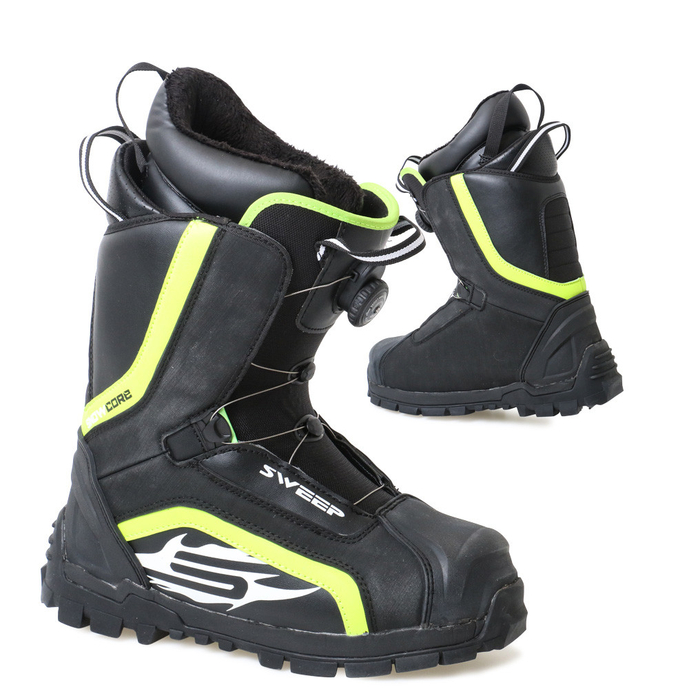 1d3b729c013 Sweep Snowcore EVO R snowmobile boot, back/yellow