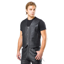Sweep Comanche leather vest