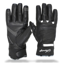 Sweep Diamond ladies leather glove black/white
