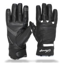 Sweep Diamond ladies leather glove black/white