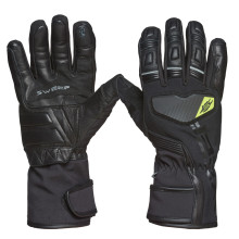 Sweep Adventure waterproof glove, black/yellow