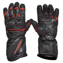 Sweep Chicane racing glove, black/red