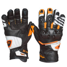 Sweep Forza gloves, black/white/orange