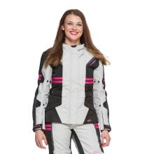 Sweep Janet waterproof ladies mc jacket, black/ivory/pink