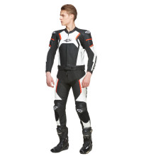 Sweep Forza 2 piece leathersuit, black/white/red