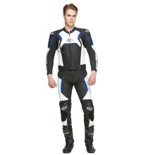 Sweep Forza 2 piece leathersuit, black/white/blue