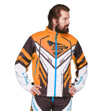 Sweep Racing Division 2.0 snowmobile jacket, black/white/orange/blue