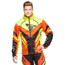 Sweep Racing Division 2.0 snowmobile jacket, black/orange/yellow