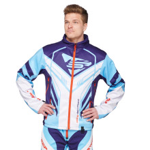 Sweep Racing Division 2.0 snowmobile jacket, blue/light blue/white/red