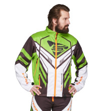 Sweep Racing Division 2.0 snowmobile jacket, green/white/black/orange