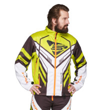 Sweep Racing Division 2.0 snowmobile jacket, black/white/yellow/orange