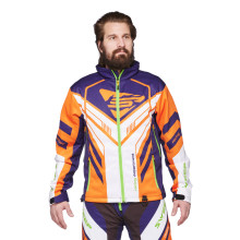 Sweep Racing Division 2.0 snowmobile jacket, white/orange/blue/green