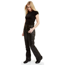 Sweep Bootcut ladies antique leather jeans