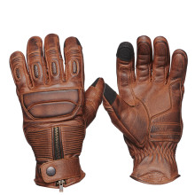 Sweep Union leather glove, brown