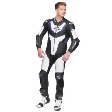 Sweep GPR Aero piece leathersuit, black/white/blue