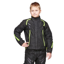 Sweep Wolverine 2, kids mc jacket, black/yellow