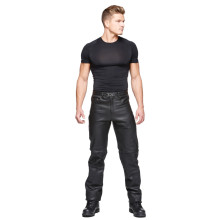 Sweep Rock leather jeans