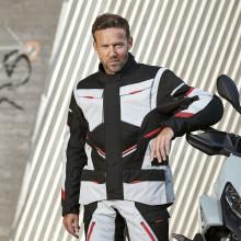 Sweep GT Adventure II 4-season jacket, ivory/black/red