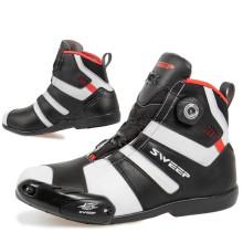 Sweep Forza vedenpitävät ajokengät, musta/valko/puna