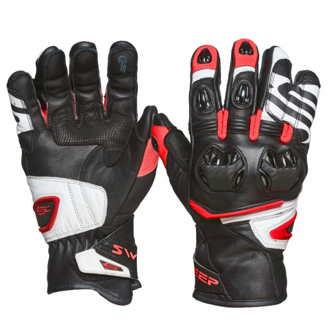Sweep Forza gloves, black/white/red