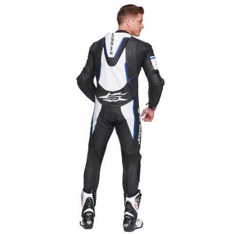 Sweep GPR Aero piece leathersuit, black/white/blue