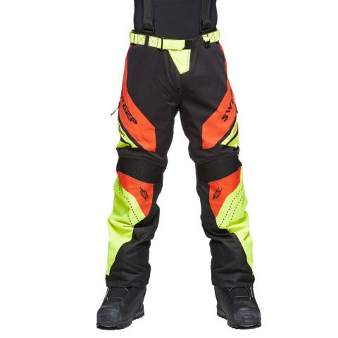 Sweep Racing Division 2.0 snowmobile pant, black/orange/yellow