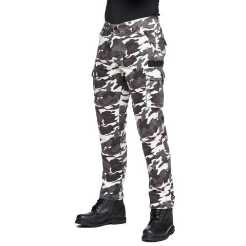 Sweep Jungle aramid reinforced mc jeans, black/white camo