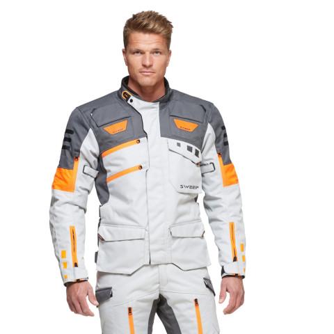 Sweep GPX 4-season jacket, ivory/orange