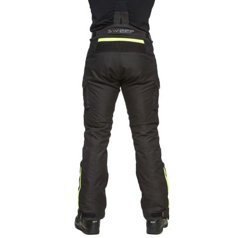Sweep GPX 4-season ajohousut, musta/kelta