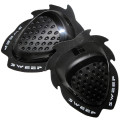 Sweep Dropper Knee slider, black, pair