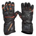 Sweep Chicane racing glove, black/orange