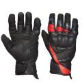 Sweep Wolverine waterproof leather glove, black/red